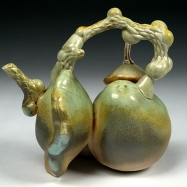 Woodfired Mango and Gourd Teapot