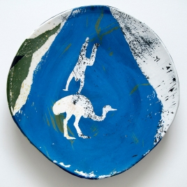 "Somersault Plate, 10"" diameter"