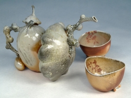 Woodfired Teaset Red Cups