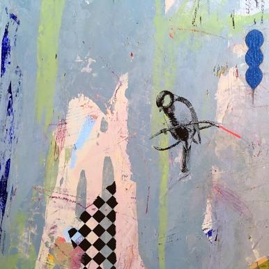 "Little Partner, detail, acrylic on birch 16""x20"""
