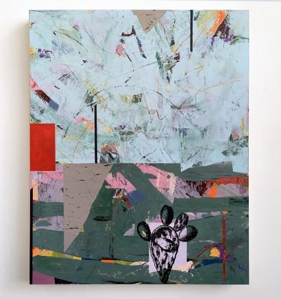 """Loner, acrylic on birch, 16"""" x20"""""""