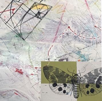"Escape Plan, detail, acrylic on birch, 12""x12"""