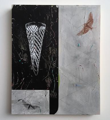 "Restless Sleeper, acrylic on birch, 16""x20"""