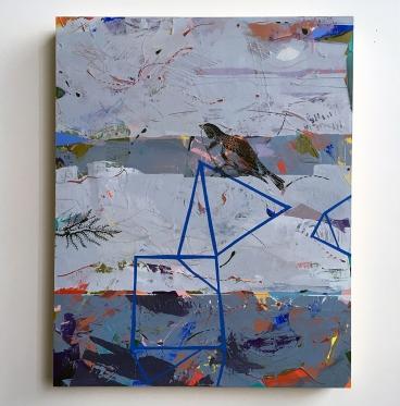 "Chatterbox, acrylic on birch, 20"" x16"""