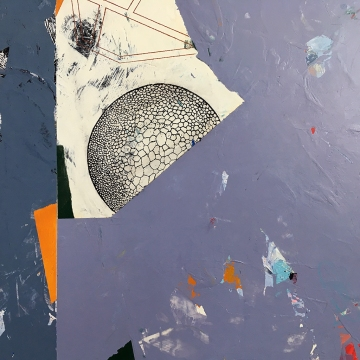 """Little Willie Finds a Home, diptych, acrylic on birch, left, 16""""x33"""""""