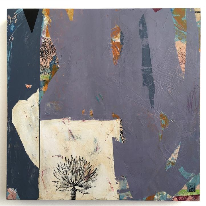 """Surco Garden/Hidden Tortoise, acrylic on birch, 16""""x16"""""""