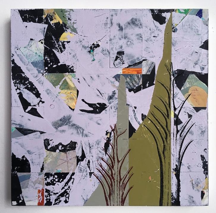 """Alias, acrylic on birch, 12""""x12"""""""