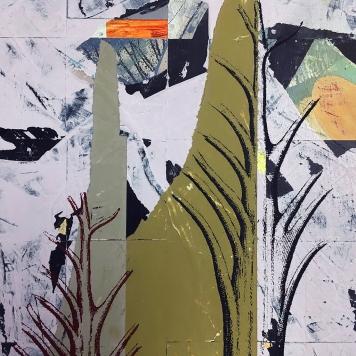 "Alias, detail, acrylic on birch, 12""x12"""