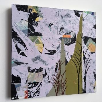 """Alias, side view, acrylic on birch, 12""""x12"""""""