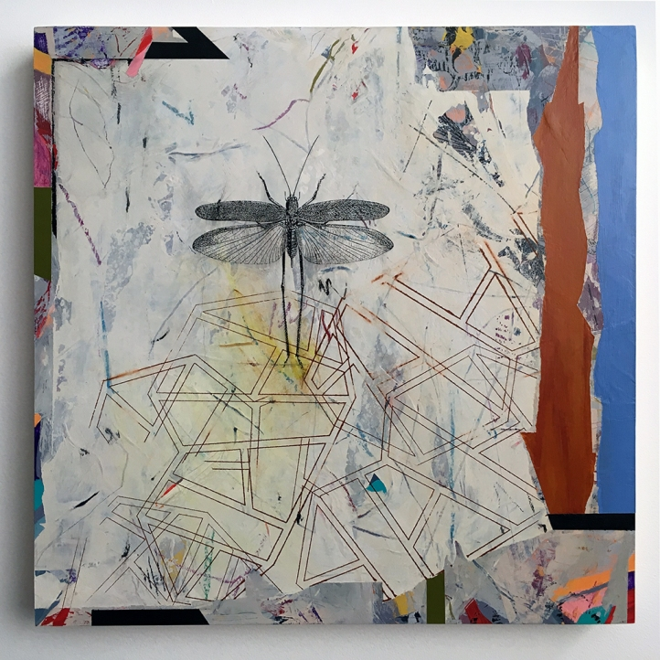 "Sandcastle Floor Plan, acrylic on birch, 18""x18"""