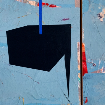 """Floating Forward, diptych, detail, acrylic on birch panel, 20x32"""""""